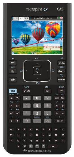 Texas Instruments TI Nspire CX CAS - Calculadora gráfica (pantalla de 3.2', tecla Touchpad), color negro
