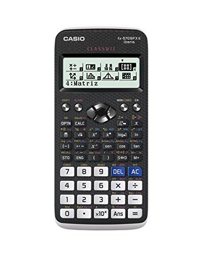 Casio FX-570SPXII- Calculadora científica, Recomendada para el curriculum español y portugués, 576 funciones, color gris/blanco