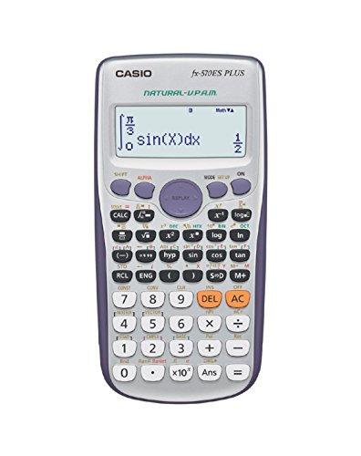 Casio FX-570ES PLUS - Calculadora científica 80 x 162 x 13.8 mm, plata/azul