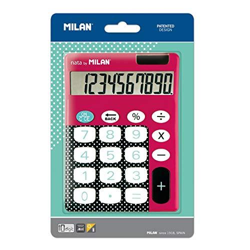 Blíster calculadora Dots & Buttons Rosa 10 dígitos