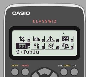 casio fx-991spx ii segunda pantalla de menu