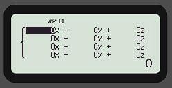 sistema de ecuaciones casio fx-991spx ii Paso 3