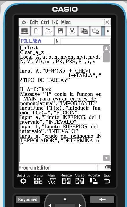 Ejemplo calculadora programable