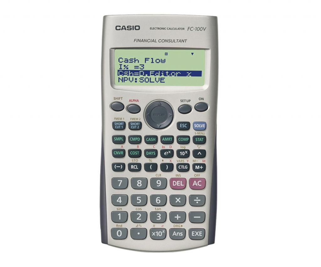calculadora financiera casio fc 100